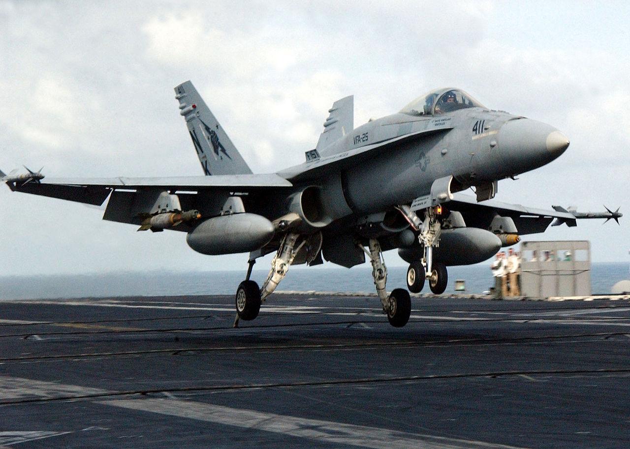 F/A-18C Trägerlandung.