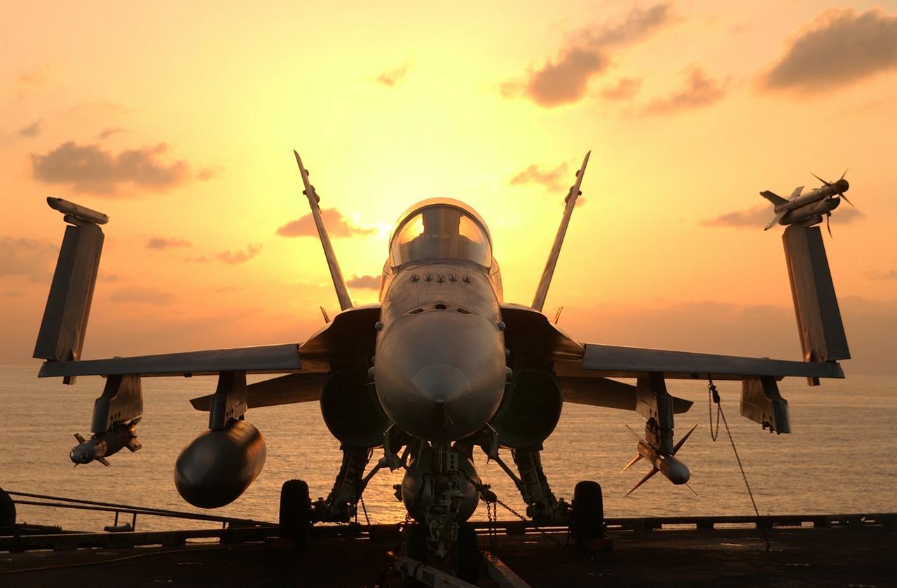 F/A-18 Hornet Abendstimmung.